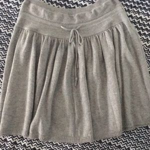 Grey knit mini skirt by Divided S 6